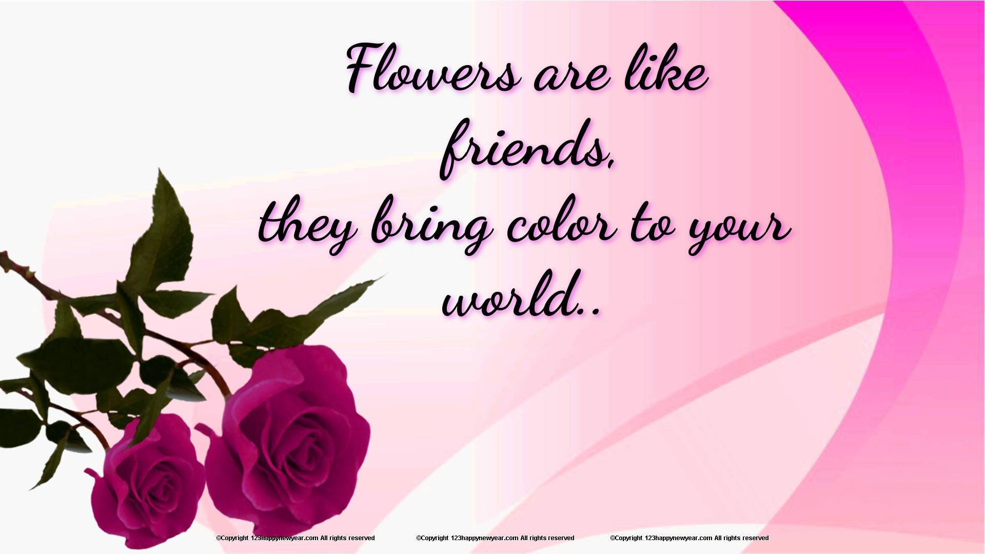 Beautiful Flowers Wallpaper With Quotes