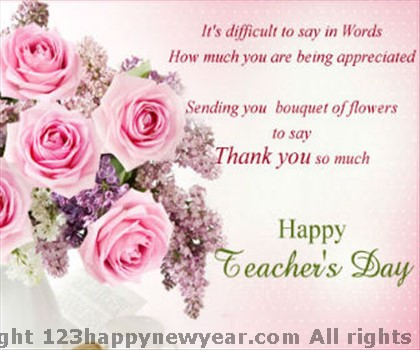 Beaches] Teachers day thank you messages from parents